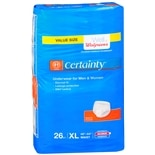 Select Walgreens Certainty Protection Underwear