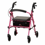 Nova Vibe Rolling Walker with 6-inch Wheels 4236PP Pretty In Pink