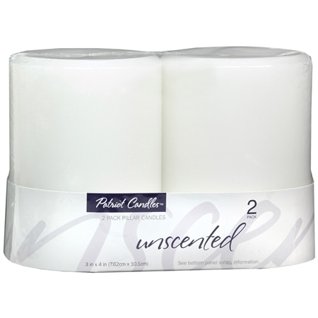 Patriot Candles Pillar Candles Unscented