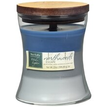 Patriot Candles Wood Lights Jar Candle Northwoods Escape Blue/Gray/White