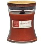 Patriot Candles Wood Lights Jar Candle Cinnamon Bark Dark Red