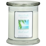 Patriot Sheer Scents Jar Candle Beach Sands White