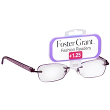 Foster Grant Fashion Readers Plastic Reading Glasses Daniela +1.25 Pink