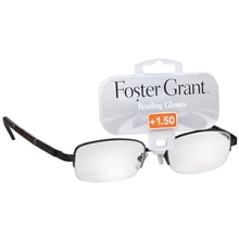 Foster Grant Metal Reading Glasses Owen +1.50 Tortoise