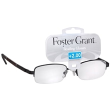 Foster Grant Metal Reading Glasses Owen +2.00 Tortoise