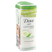 Dove Go Fresh Anti-Perspirant Deodorant Solid 2 Pack Cucumber & Green Tea