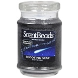 Walgreens Wax Bead Jar Candle Shooting Star Black