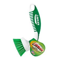 Libman Curved Kitchen Brush Green/White
