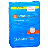 Walgreens Certainty Underwear Maximum Absorbency, Unisex Medium