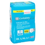 Walgreens Certainty Men's Underwear Maximum Absorbency L/XL