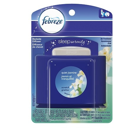 Febreze Sleep Serenity Bedside Diffuser, Set & Refresh Quiet Jasmine