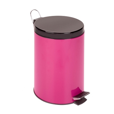 Honey Can Do 12L Step Trash Can Magenta