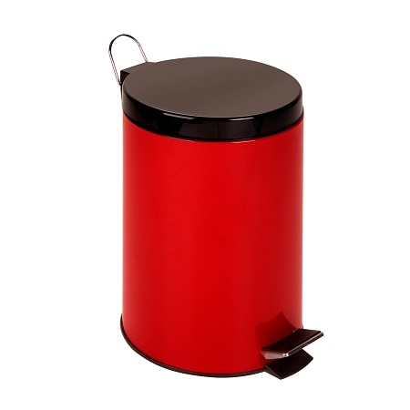 Honey Can Do 12L Step Trash Can Ruby