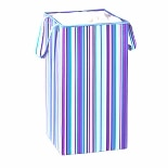 Honey Can Do Rectangular Collapsible Hamper With Handles Blue And Purple