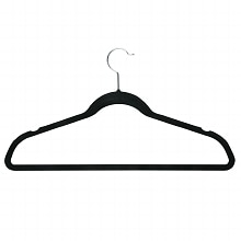 Honey Can Do 9 Pk Velvet Touch Suit Hanger Black