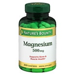Nature's Bounty Magnesium 500mg Value Size, Tablets