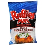Ruffles Max Potato Chips Bacon Cheddar