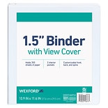 Wexford View Binder 1.5 inch 1.5 inch Assorted