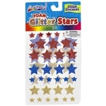 Glitter Stars StickersAssorted