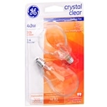 GE Crystal Clear Light Bulbs 40 Watt Candelabra Base