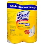 Lysol Disinfecting Wipes 2 Pack Lemon & Lime