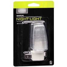 Living Solutions Night Light Clear Manual Clear
