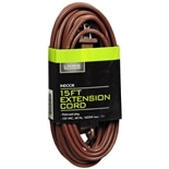 Living Solutions Indoor Extension Cord 15 foot Brown