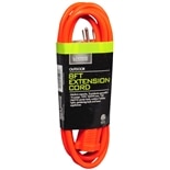 Living Solutions Outdoor Extension Cord 8 foot Orange