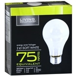 Living Solutions Energy Saver Halogen Light Bulbs Soft White 75 Watts Equivalent White