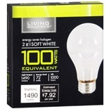 Living Solutions Energy Saver Halogen Light Bulbs 100 Watts Equivalent White