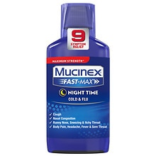 Mucinex Fast-Max Maximum Strength Adult Liquid, Nighttime Cold & Flu