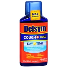 Delsym Adult Liquid Cough + Cold Daytime, Mixed Berry