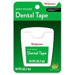 Walgreens Dental Tape, Waxed Mint,50 yard