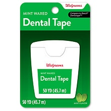 Walgreens Dental Tape, Waxed Mint