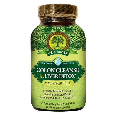 Well Roots Colon Cleanse & Liver Detox, Softgels Health Fitness Skin Care Beauty Supply Deals