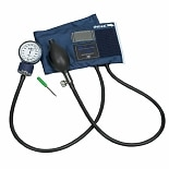 Mabis Caliber Adjustable Aneroid Sphygmomanometer Blue