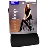 West Loop Control Top Ribbed Tights S/M Black