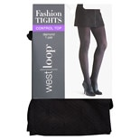 West Loop Diamond Control Top Tights M/L Black