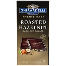 Ghirardelli Intense Dark All Natural Chocolate Bar Hazelnut Heaven