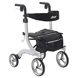 Drive Medical Nitro Euro Style Rollator Walker White