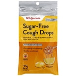 Walgreens Sugar Free Cough Drops Honey Lemon