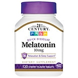 21st Century Quick Dissolve Melatonin 10mg, Tablets Cherry