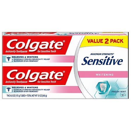 Colgate Sensitive Sensitive Plus Whitening Toothpaste Twin Pack