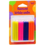 Creative Converting Fluorescent Birthday Candles Assorted