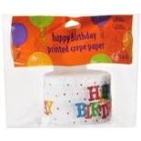 Creative Converting Happy Birthday Printed Crepe Paper Multi