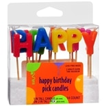 Creative Converting Happy Birthday Pick Candles Assorted