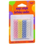 Creative Converting Magic Relight Birthday Candles Assorted