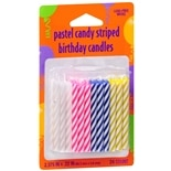 Creative Converting Pastel Candy Striped Birthday Candles Assorted