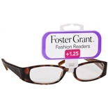 Foster Grant Fashion Readers Plastic Reading Glasses Estelle +1.25 Tortoise