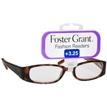 Foster Grant Fashion Readers Plastic Reading Glasses Estelle +3.25 Tortoise